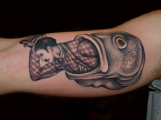 Fish Eating Fish Tattoo Fish Eating Man Tattoo