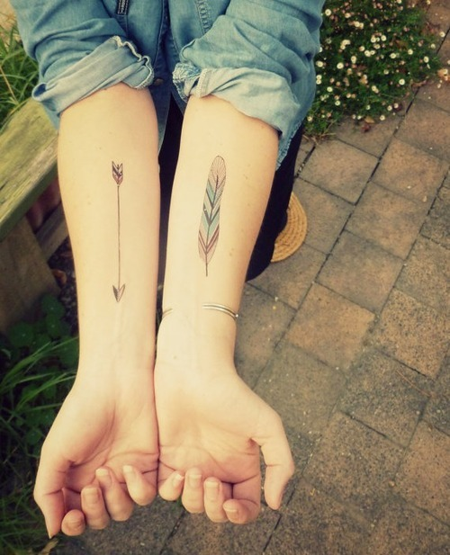 bow & arrow Tattoo