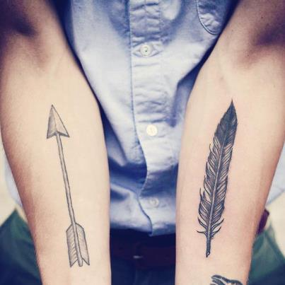 arrow & feather Tattoo