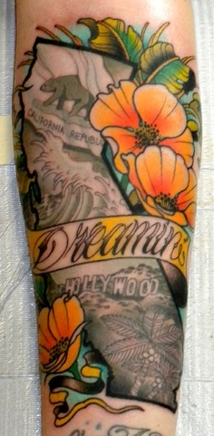 California Dreamin' Tattoo