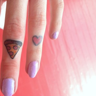 Love Pizza Tattoo