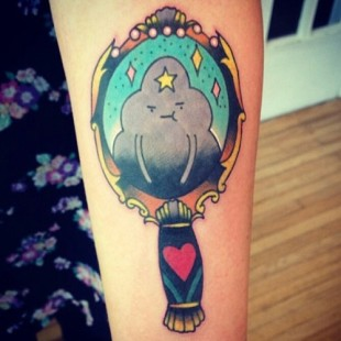 Lumpy the Cloud Princess Tattoo