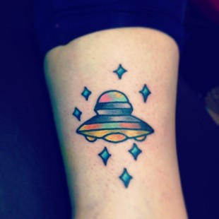 Lets Talk About Spaceships Tattoo