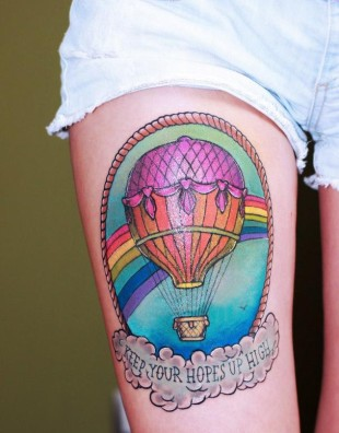 Keep Your Hopes Up High Tattoo