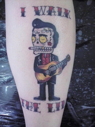 I Walk The Line Tattoo