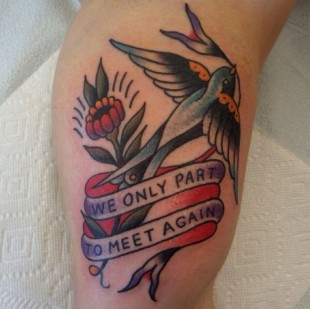We Only Part To Meet Again Tattoo