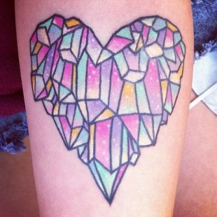 Crystalized Love Tattoo