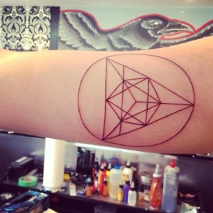 Triangular Direction Tattoo