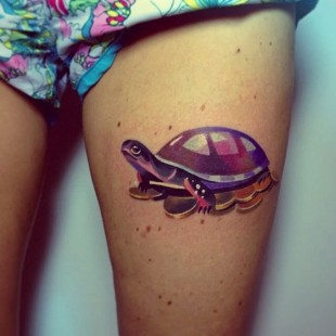 Technicolored Turtle Tattoo