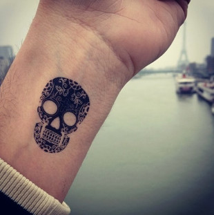 Small Skull Wrist Tattoo Tattoo